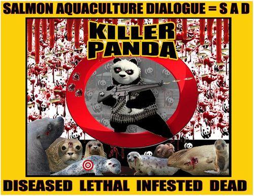 WWF panda shooting graphic #2 SAD version in yellow
