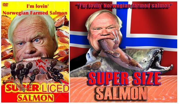 Super Size Salmon film poster double