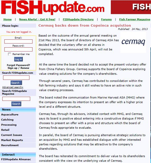 MH Cermaq Fish Update