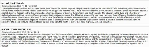 Loch Kanaird objections