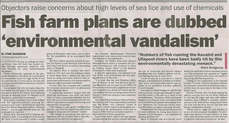 Ross-shire Journal 21 June 2013 fron page environmental vandalism story