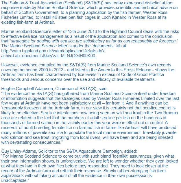 S&TA Loch Kanaird MSS unforgivable PR 27 June 2013 #2