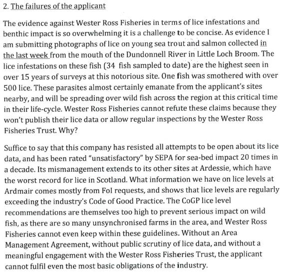 Loch Kanaird objection Donald Rice June 2013 #3