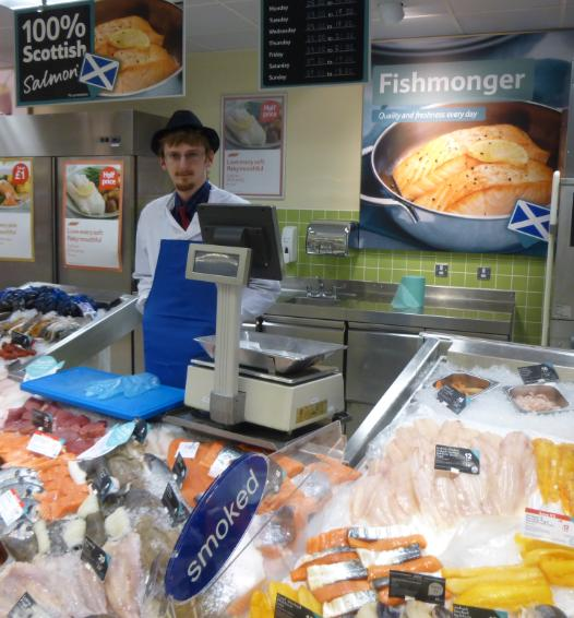 Low res photos #4 Tesco Inverness 22 March 2014 Farmed salmon from Norway sold as 100% Scottish
