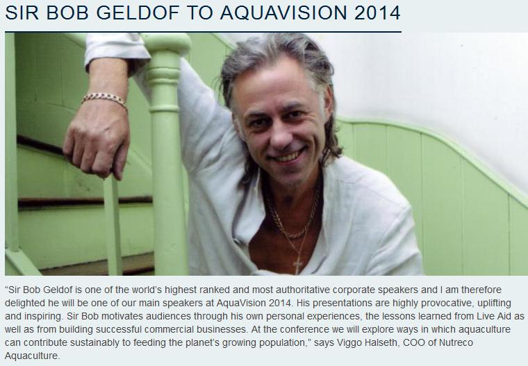 Geldolf at AquaVision June 2014 PR with photo