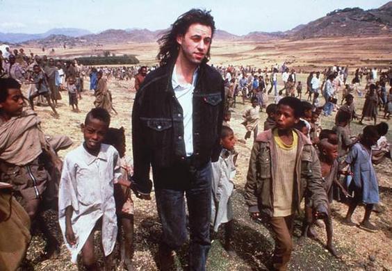Geldof with African children