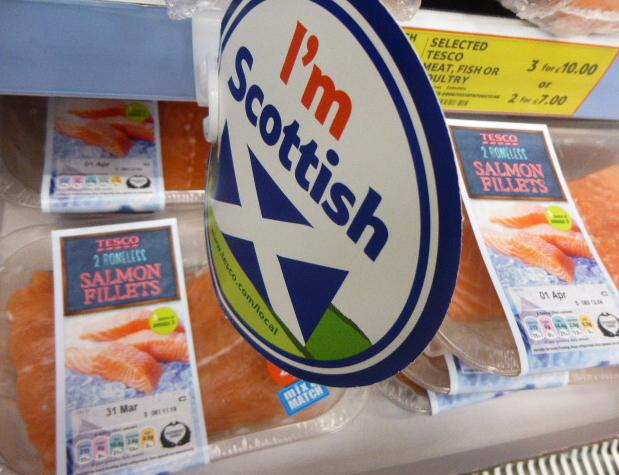 Low res photos #18 Tesco Inverness 30 March 2014 I'm Scottish label selling Norwegian farmed salmon