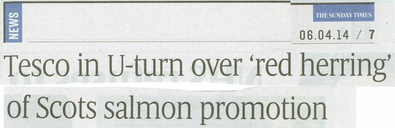 Sunday Times 6 April 2014 #1 newspaper headline