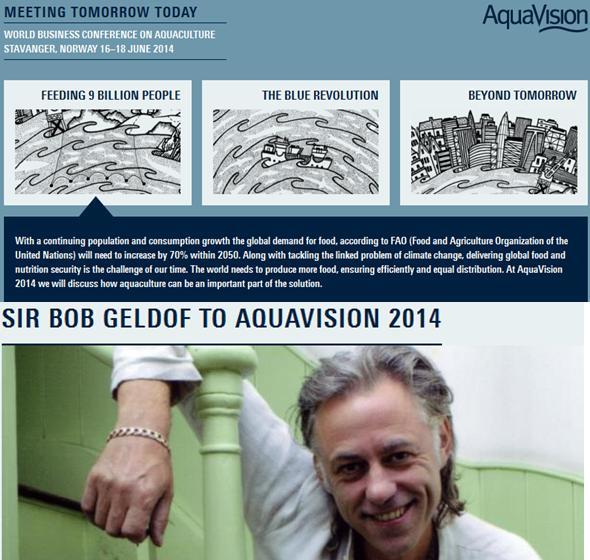 Geldof at AquaVision