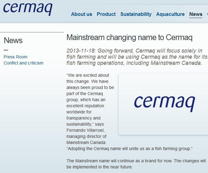 Mainstream name change