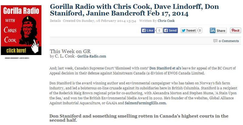 Gorilla Radio 17 Feb 2014