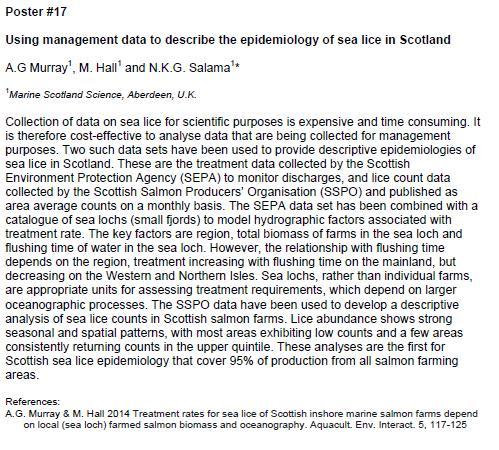 Sea Lice 2014 SEPA sea lice data