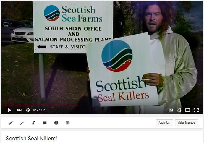 Video #7 Scottish Seafarms as Scottish Seal Killers