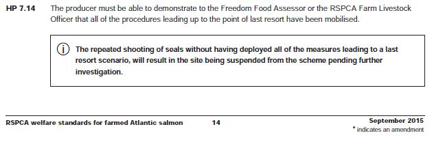 RSPCA welfare standards for farmed Atlantic salmon Sept 2015 #1