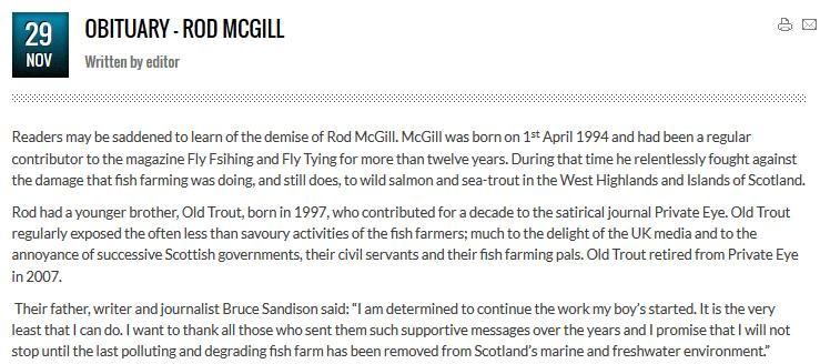 Obit for Rod McGill