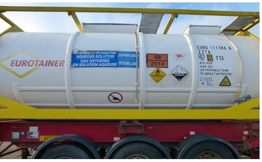Hydrogen peroxide photo #3 corrosive tanker