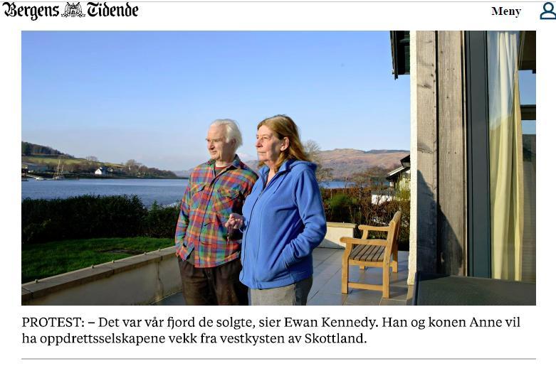 Bergens Tidende 12 Feb 2017 Ewan & Anne