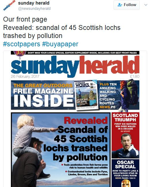Sunday Herald 26 Feb 2017 Tweet