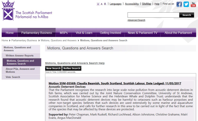 Scottish Parliament Motion 11 May 2017 by Claudia Beamish