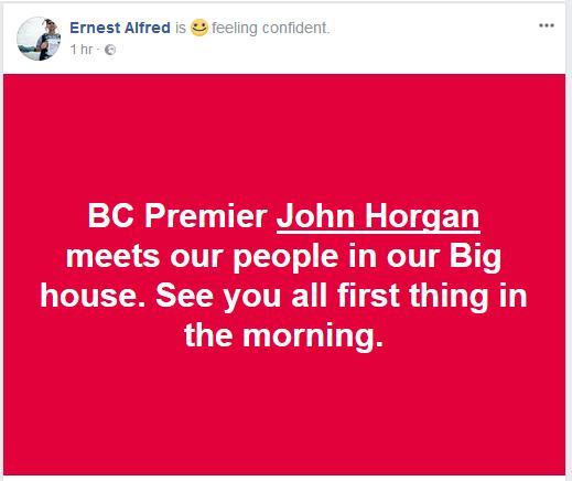 Alfred on Horgan meeting