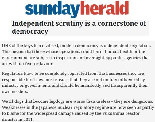 Sunday Herald 5 Nov 2017 Editorial #1
