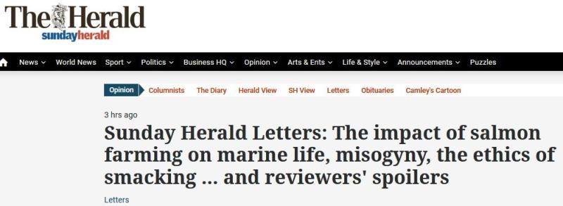 Sunday Herald 12 Nov 2017 Letters #1