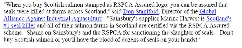 PR RSPCA Sainsburys Carry On Killing Seals 4 Jan 2018 #3