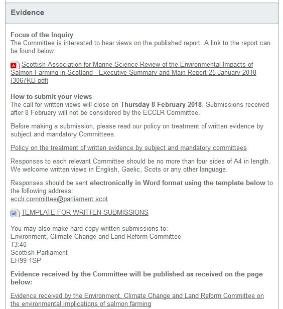 SP inquiry evidence page