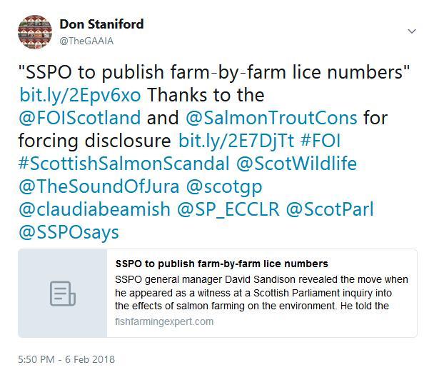 Tweet SP #1 SSPO to publish