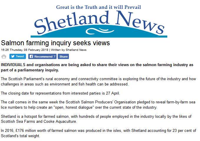 Shetland News 8 Feb 2018 #1