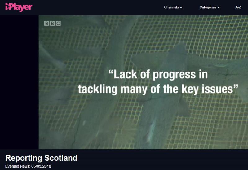BBC News 5 March 2018 Reporting Scotland Lack of Progress
