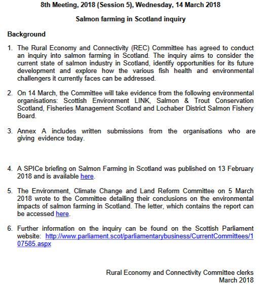 SP recc 14 March evidence agenda #2