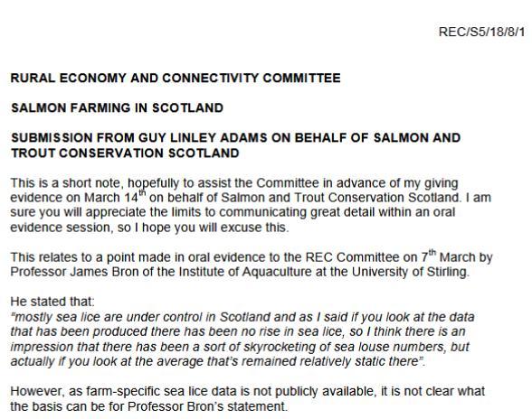 SP recc 14 March evidence agenda Guy #1