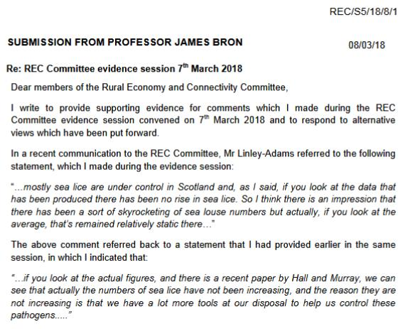 SP recc 14 March evidence agenda Bron #1