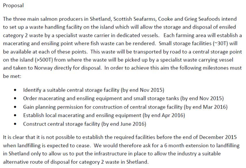 Shetland FOI documents Disposal of Cat 2 Waste in Shetland #2