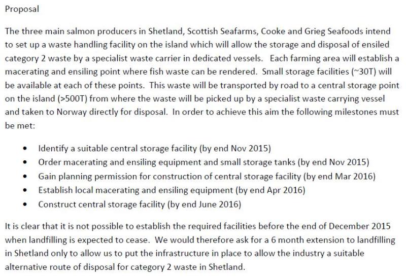 Shetland FOI documents Disposal of Cat 2 Waste in Shetland #2