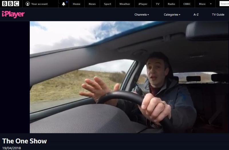 BBC One Show 19 April 2018 #8 Joe driving