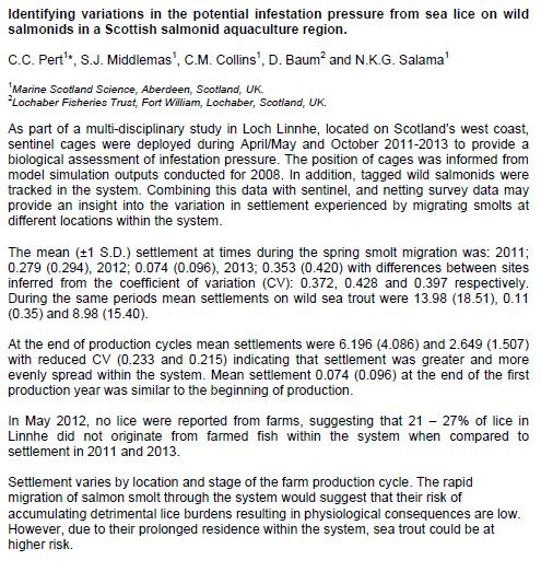 Sea Lice 2014 pert paper #2