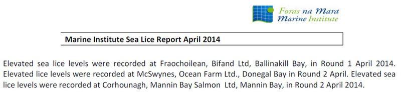 Sea Lice data April 2014 #1