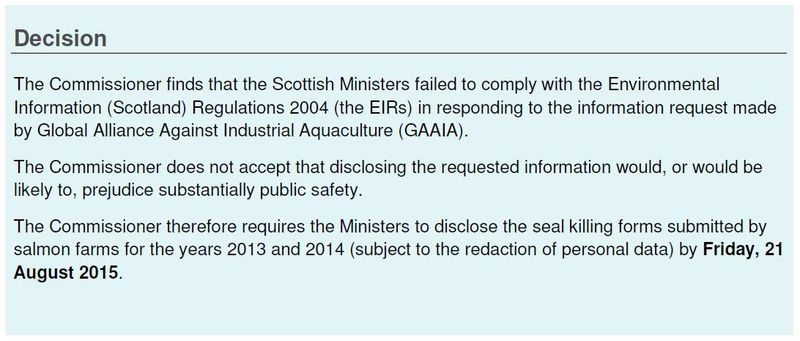 SIC Decision 103-2015 7 July 2015 seal killing return forms for 2013 & 2014 WIN #1 Decision