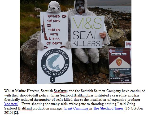 PR 30 October 2015 Stop Shooting Seals for Salmon Meals #2