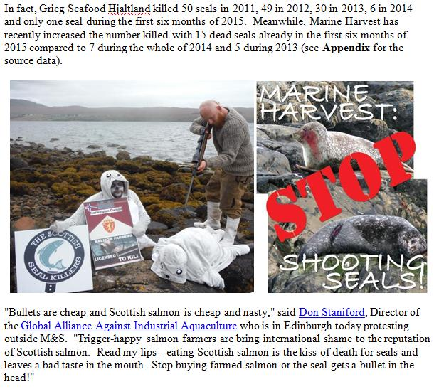 PR 30 October 2015 Stop Shooting Seals for Salmon Meals #3