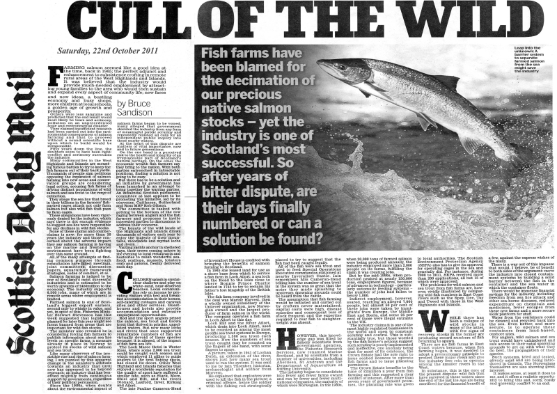 Scottish Daily Mail, 22nd October 2011
