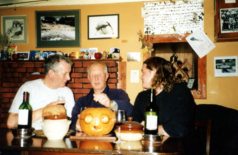 Bruce at Halloween with Allan & Don