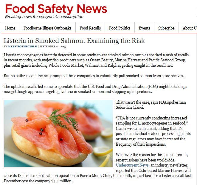 Food Safety News 2013 #1