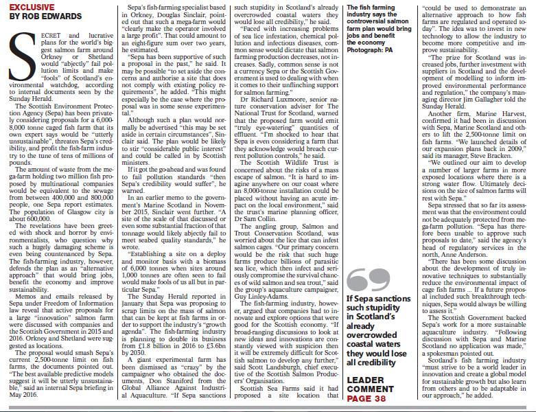 Sunday Herald 5 Feb 2017 newspaper version #2