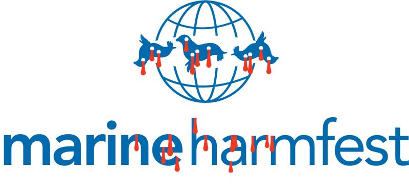 Marine Harmfest logo with dead seals