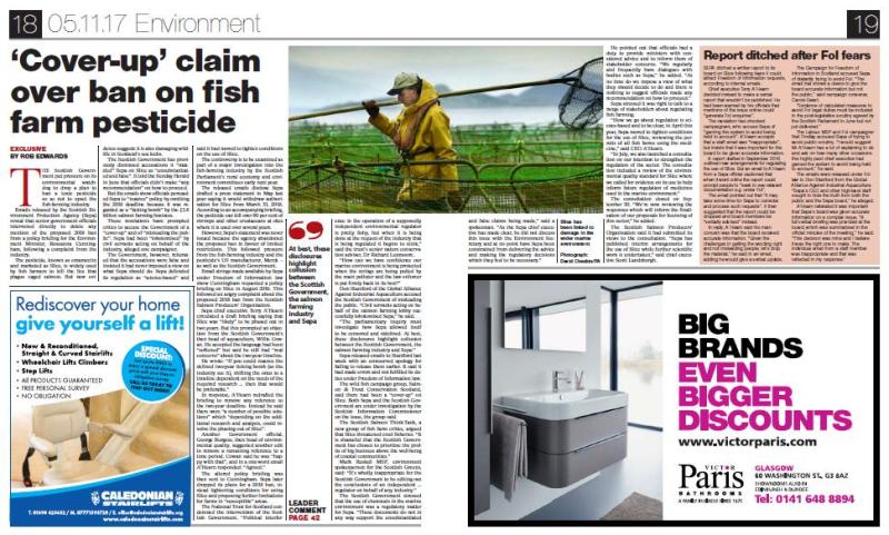 Sunday Herald 5 Nov 2017 full double page