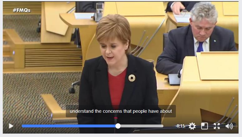 Sturgeon understands concerns