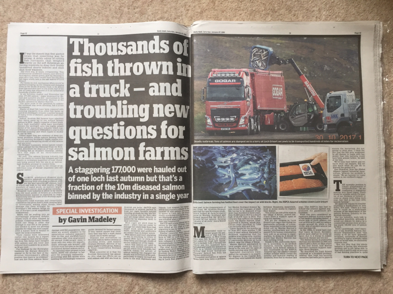 Daily Mail 27 Jan 2018 #1 newspaper version double pager